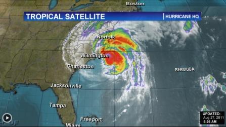 uraganul irene satelit