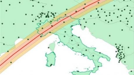 harta satelit italia