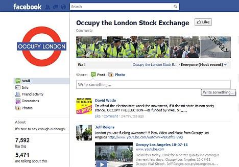 occupy london facebook