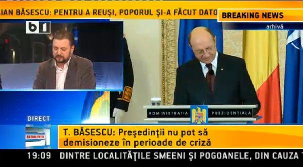 basescu - presedintii nu demisioneaza