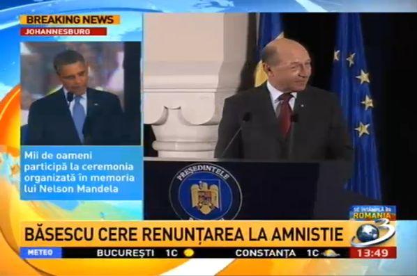 basescu nu vrea amnistie